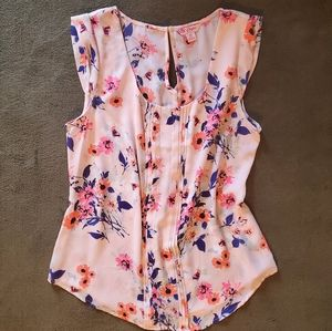 Candie's Sleeveless Floral Tank Top Blouse